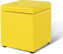 WXQIANG Leather Square Storage Stool Modern