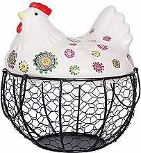 WXQY Chicken Shape Ceramics Metal Egg
