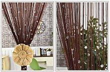 WYAN Crystal Beaded Curtain Tassel Curtains With