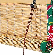 WYAN Reed Curtain Bamboo Blind Roman Shades Roller