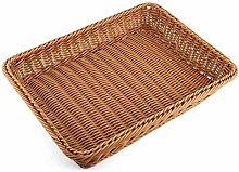WYB Bread Basket,Rectangle Imitation Rattan Bread