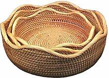 WYB Rattan Storage Basket Bread Basket Rattan
