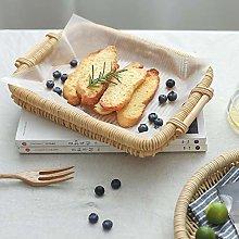 WYB Rattan Storage Basket Fruit Bread Picnic