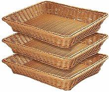 WYB Wicker Bread Basket,Woven Tabletop Food Fruit
