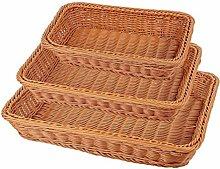 WYB Wicker Bread Baskets Set,Woven Pantry