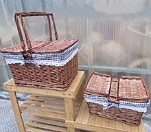 WYB Wicker Picnic Basket Home Food Bread Basket