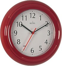 Wycombe 22cm Wall Clock Acctim Colour: Red