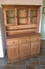 Wye Valley Pine Glazed Welsh Dresser - Finish:
