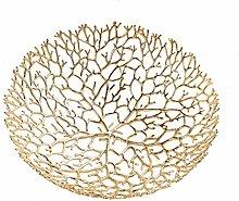WYJBD Fruit Dish - Fruit Bowl Basket In Copper