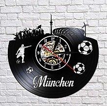 WYJIE Wall Clock German States Football Stadium