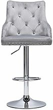 WYJW Velvet Bar Chairs with Backrest and Footrest,