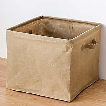 WYMBM Cotton Linen Storage Basket With Handle