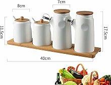 WYMF Oil & Vinegar Bottle Dispenser Spice Tank