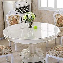 WYMF WJX-Clear Pvc Table Protector Tablecloth,