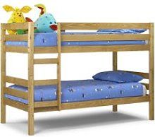 Wyoming Antique Solid Pine Wooden Bunk Bed Frame -