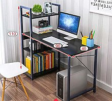 WYQAU Computer Desk with 4 Tier Storage Shelves -