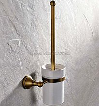 WYRKYP Toilet Brushes,Antique Brass Wall Mounted