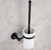 WYRKYP Toilet Brushes,Black Oil Antique Brass Wall