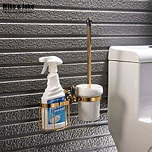 WYRKYP Toilet Brushes,Golden Plated Finish Toilet