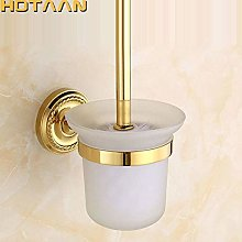 WYRKYP Toilet Brushes,Solid Brass Wall Mount