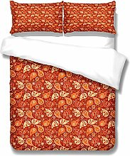 WYRRIG Duvet Cover Set King Little Snail Orange