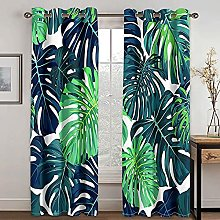 WYTCY Luxury Curtains For Living Room Green Plant