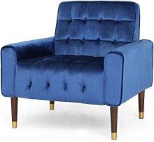 Wyton Armchair Blue Elephant Upholstery Colour: