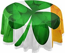WYYWCY Round Antique Table Cloth Ireland Flag With