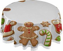 WYYWCY Round Camping Table Cover Gingerbread