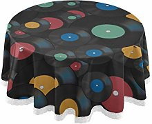 WYYWCY Round Living Room Table Cloth Retro