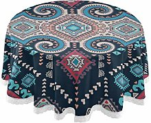 WYYWCY Round Restaurant Table Cloths Mexican