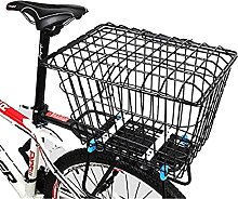 WYZQ Bike Basket with Lid, Enlarge The Basket with