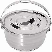 WYZQ Classic Stainless Steel Cooking Pot Camping