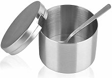 WYZQ Stainless Steel Sugar Bowl And Sugar Spoon,