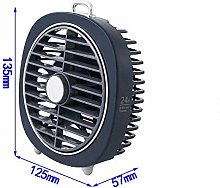 WZF USB table fan, silent portable cooler with led