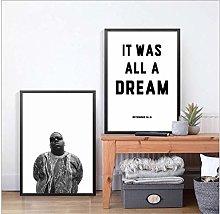 wzgsffs Biggie Smalls Rap Lyrics Canvas Art Print