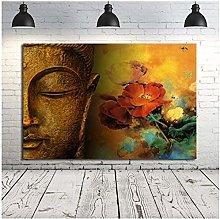 wzgsffs Framed Pintura De Buda Wall Art Canvas