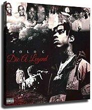 wzgsffs Polo G Die A Legend Wall Art Music Album
