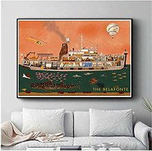 wzgsffs Wes Anderson Movie Characters Posters And