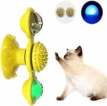WZhen Soft Silicone Cat Toy Turntable Teasing Pet