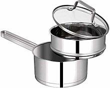 WZHZJ 304 Stainless Steel Milk Pot Household