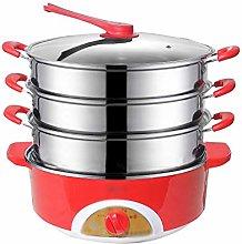 WZHZJ 304 Stainless Steel Slow Cooker Food Steamer
