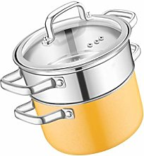 WZHZJ 304 Stainless Steel Small Steamer 2 Person