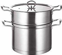 WZHZJ 304 Stainless Steel Soup Pot Steamer Complex