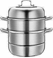 WZHZJ Big Stainless Steel Steamer, Cookware Pot