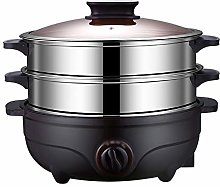 WZHZJ Double-layer Stainless Steel Electric Food