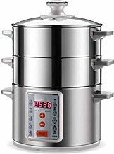WZHZJ Electric Food Steamer 3 Layer Cooking Pot,