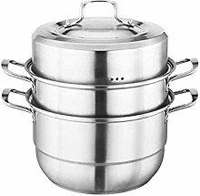 WZHZJ Food Grade Stainless Steel 3-layer Steamer,