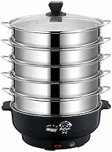 WZHZJ Household 5 Layer Electric Steaming Pot