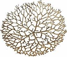 WZHZJ Modern Pure Copper Hollow Metal Fruit Bowl -